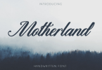 Motherland [1 Font] | The Fonts Master