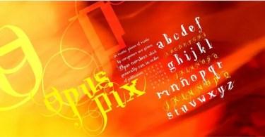 Opus Pix [1 Font]   The Fonts Master