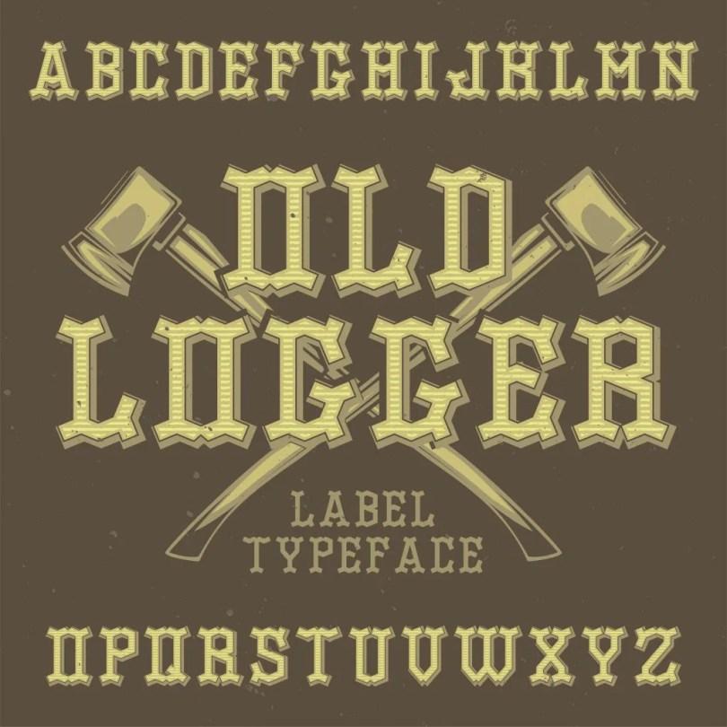Old Logger [6 Fonts] | The Fonts Master