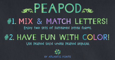 Peapod [2 Fonts] | The Fonts Master