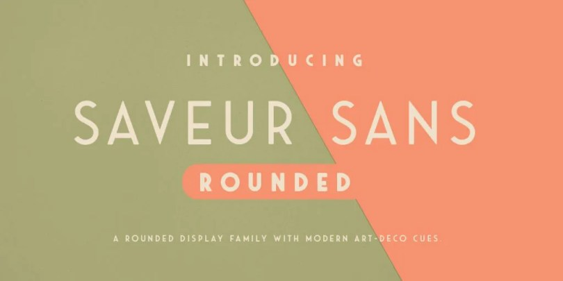 Saveur Sans Round [4 Fonts] | The Fonts Master