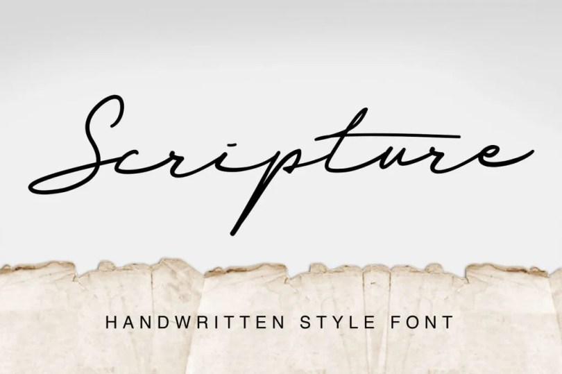 Scripture [1 Font] | The Fonts Master