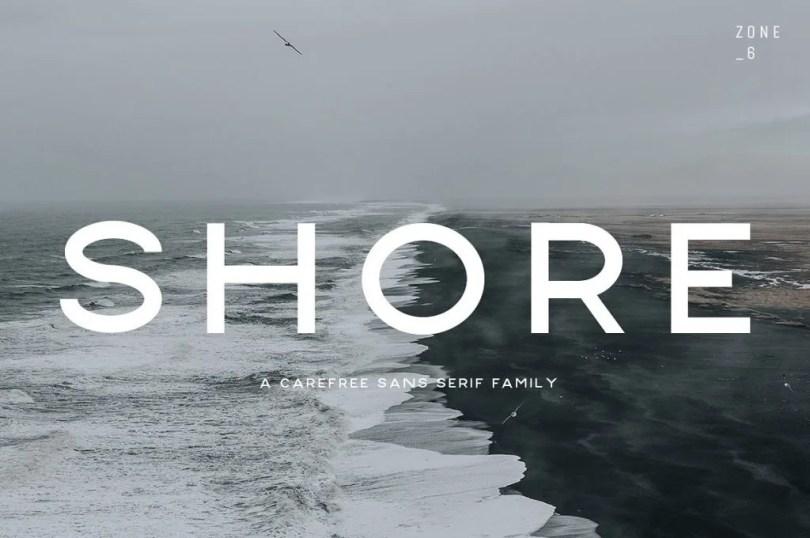Shore [6 Fonts]   The Fonts Master