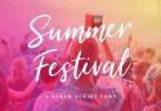 Summer Festival [2 Fonts] | The Fonts Master