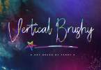 Vertical Brushy [2 Fonts] | The Fonts Master