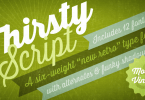 Thirsty Script [12 Fonts] | The Fonts Master