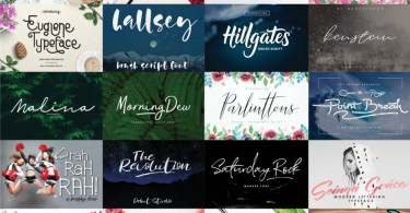 The Free Font Bundle July 2017 [47 Fonts]
