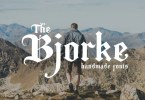 The Bjorke [2 Fonts] | The Fonts Master