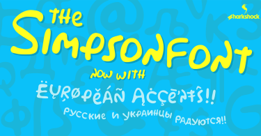 Simpsonfont [1 Font] | The Fonts Master