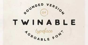 Twinable [1 Font] | The Fonts Master