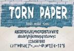 Torn Paper [1 Font] | The Fonts Master