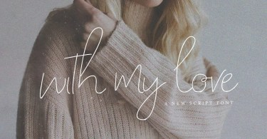 With My Love [3 Fonts] | The Fonts Master