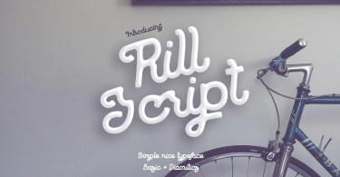 Rill Script [1 Font] | The Fonts Master