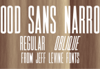 Wood Sans Narrow Jnl [2 Fonts] | The Fonts Master