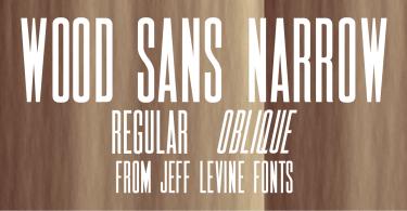 Wood Sans Narrow Jnl [2 Fonts] | The Fonts Master