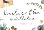 Under The Mistletoe Script [1 Font] | The Fonts Master