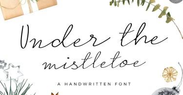 Under The Mistletoe Script [1 Font]   The Fonts Master