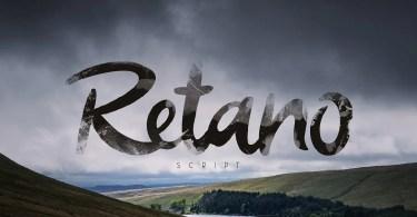 Retano Script [1 Font]   The Fonts Master