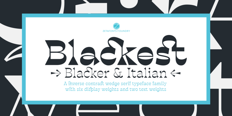 Blackest [8 Fonts]   The Fonts Master