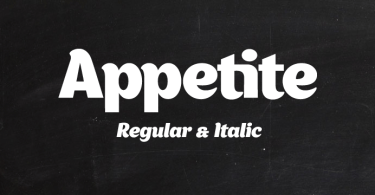Appetite [2 Fonts] | The Fonts Master