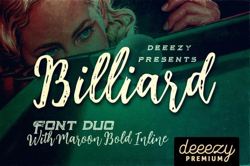 Billiard [3 Fonts] | The Fonts Master