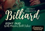 Billiard [3 Fonts] | The Fonts Master