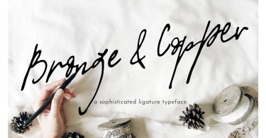 Bronze &Amp; Copper [1 Font]   The Fonts Master