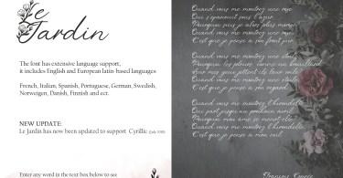 Le Jardin [2 Fonts] | The Fonts Master