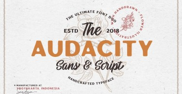 Audacity Font Duo [2 Fonts] | The Fonts Master