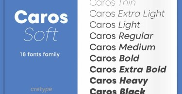 Caros Soft Super Family [17 Fonts]   The Fonts Master