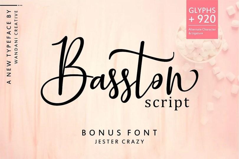 Basston Script [2 Fonts]   The Fonts Master