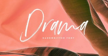 Drama [1 Font] | The Fonts Master