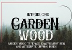 Garden Wood [1 Font] | The Fonts Master