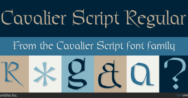 Cavalier [1 Font] | The Fonts Master