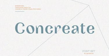 Concreate [2 Fonts] | The Fonts Master
