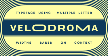 Velodroma [9 Fonts] | The Fonts Master