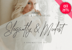 Elegantly &Amp; Modest [6 Fonts] | The Fonts Master