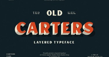 Carters Layered [4 Fonts] | The Fonts Master