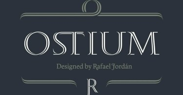 Ostium [1 Font] | The Fonts Master
