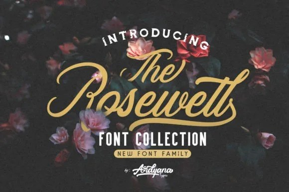 Rosewell Font Collection [7 Fonts]