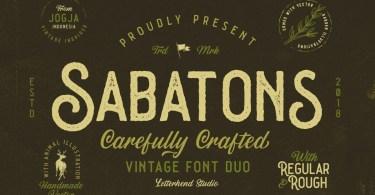 Sabatons [4 Fonts] | The Fonts Master