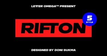 Rifton [5 Fonts]