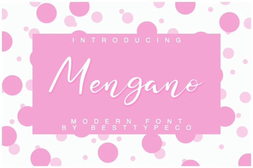 Mengano [1 Font] | The Fonts Master