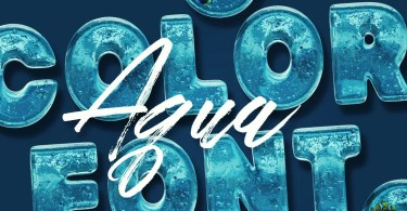 Aqua Color Font [2 Fonts] | The Fonts Master