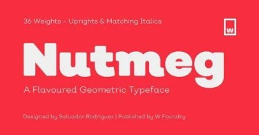 Nutmeg Super Family [36 Fonts] | The Fonts Master