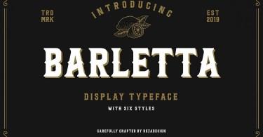 Barletta [6 Fonts] | The Fonts Master