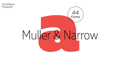 Muller Super Family [44 Fonts] | The Fonts Master
