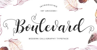 Boulevard Script [1 Font]