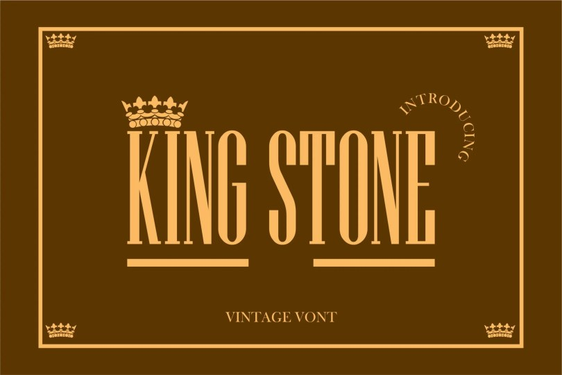 King Stone [1 Font]   The Fonts Master