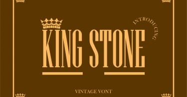 King Stone [1 Font] | The Fonts Master